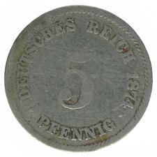 Deutsches Reich 5 Pfennig 1874 F A50235