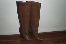 Ella Moss Brown Leather & Suede Wedge Boots ~ Size 6 M