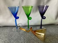 Cordial Apertif Colored Glasses Set of 4