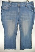 Maurices Womens Jeans Bootcut Boot Cut Curvy Size 22 X Short 22XS Meas 42x28.5