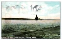 1912 Deer Island Light, Boston Harbor, MA Postcard