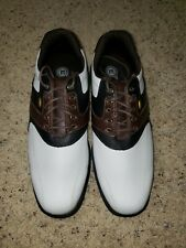Etonic Golf Shoes Mens White And Brown Size 9