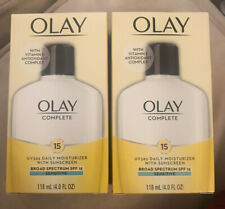 2x OLAY Complete 15 Daily Moisturizer W/Sunscreen Sensitive 4oz. Expired 11/19
