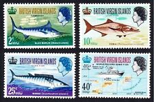 Mint Never Hinged/MNH Fish British Virgin Islander Stamps