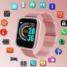 Фитнес спорт кровяное давление монитор пульса умные часы наручный ремешок браслет