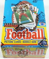 1989 Topps Football Card Set Wax Pack Box Joe Montana Jerry Rice BBCE FASC