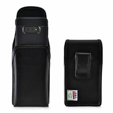 Galaxy S10e Holster Black Clip Case Pouch Leather Vertical Turtleback