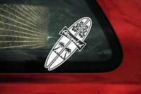 2x Aircooled, surf theme VAG , Dub STICKERS , decals | retro