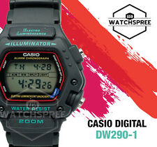 Casio Digital Black Casual Sports Watch DW290-1V