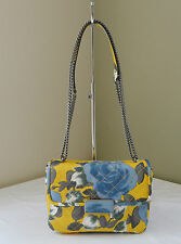 Marc By Marc Jacobs Yellow Rose Floral Quilted Rebel 24 Shoulder Crossbody