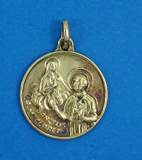 RARE ANTIQUE SOLID 18K GOLD ANTHONY MARY CLARET SANCTUS SAINTHOOD MEDALLION