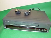 ALBA VCR7390 Video Cassette Recorder VHS Smart VCR Black Slim Small FULLY TESTED