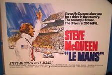 STEVE MCQUEEN- LE MANS   1971  ORIGINAL UK  QUAD  CINEMA POSTER-LINEN BACKED