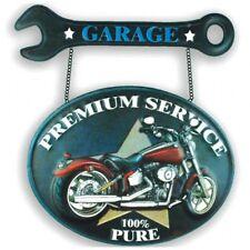 Metal Art New Mexico 41x47,5 in metallo Garage con motocicletta vintage .
