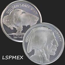 Buffalo -  Indian 5 oz .999 Silver Round American USA Made Commemorative BU Coin