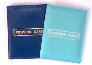 Travel Wallet / Pension Card - ID Bus Pass Oyster Card Holder Faux Leather