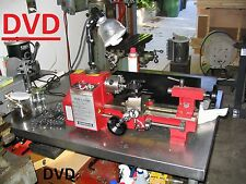 Metal Working STEP BY STEP DVD basics how to operate a metal lathe 7 x 10, DIY