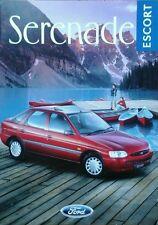 Ford Escort Serenade Sales Brochure - October 1996