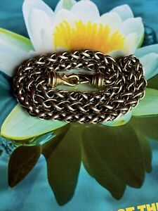 😍DAVID YURMAN STERLING & 14K YG WHEAT CHAIN LINK NECKLACE - 6 mm 16 INCHES😍