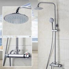 """Salle de bain 8 """"thermostatique douche de pluie mélangeur robinet + douche sets"""