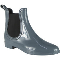 Womens Ladies Winter Rain Flat Chelsea Ankle Wellies Wellington Boots Shoes Size