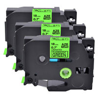 """6PK Black on Fluo Green Label Tape for Brother P-Touch TZD41 TZE-D41 3//4/"""" PT310B"""