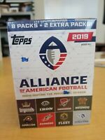 2019 TOPPS AAF ALLIANCE OF AMERICAN FOOTBALL FACTORY SEALED 100 CARD BLASTER BOX