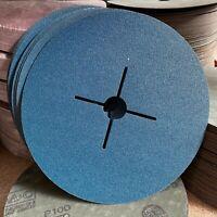 10 Bosch Blu Top 180mm 17.8cm Abrasivo Fibra Disco Abrasivo 100G