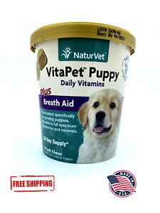 NaturVet Vita Pet Puppy Plus Breath Aid 70 Chews FREE SHIPPING