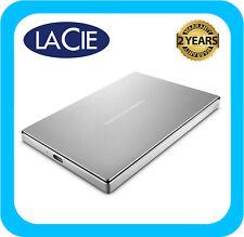 LaCie 2TB Porsche Design USB-C Portable External Hard Drive Silver - STFD2000400
