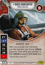 x1 Biggs Darklighter- Rebellion Ace 72 Rare Star Wars Destiny Across the Galaxy
