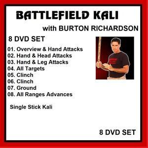 battlefield kali 8 DVD SET single stick like arnis escrima mma burton richardson