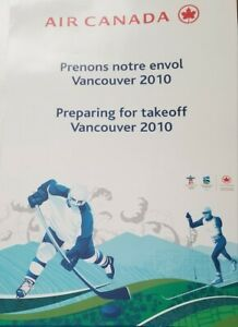 """Air Canada Large 20""""x30"""" Vancouver 2010 Olympics Hockey Poster NON-RETAIL - RARE"""