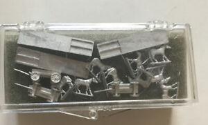 "Alexander Models Iron Horse Miniatures Wagons Horses 18"" Metal Silver Die Cast"