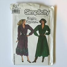 1980's Simplicity 8221 Western Rockabilly Dress Pattern Miss 6 8 10 12 Uncut