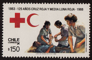 CHILE 1988 STAMP # 1282 MNH RED CROSS