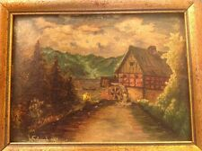 Antique German Oil Painting Signed 1842.