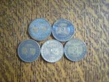 lot de 5 pieces bon pour 2 francs
