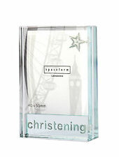 Spaceform Glass Dinky Picture / Photo Christening Gift Frame 1753