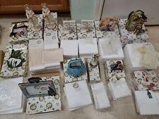 Lot of 13 Blue Sky Clayworks Heather Goldminc Frames, Candle Holders, Decoration