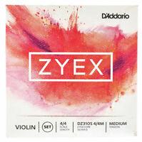D'Addario Zyex Violin String Set 4/4, Medium Tension