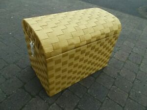 Linen Box  Dome Top Bamboo Leaf Weave    ----  Buyer to collect