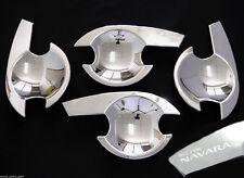 4 CHROME DOOR INSERT FOR NISSAN NAVARA D40 RX ST-X 4DOOR 2005 - 2014 06 07 08 09
