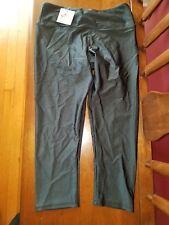 Nwt Onzie Yoga 202 Capri Legging Pant Women's S/M Shiny Charcoal Authentic!