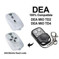 DEA MIO TD2 / DEA MIO TD4 compatible remote control transmitter, 433,92Mhz CLONE