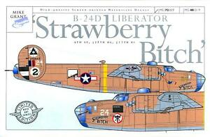 Mike Grant Decals 1/48 B-24D LIBERATOR STRAWBERRY BITCH 9th Air Force