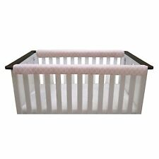 Go Mama Go Designs Teething Guard, 52 x 6� Reversible Pink Arabesque Pink, White