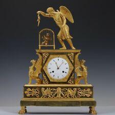 """Rouvière a Paris, 1805 Empire Pendule """"Allegorie - Amor eine Amorette neckend"""""""