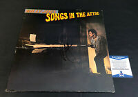 BILLY JOEL SIGNED AUTOGRAPHED SONGS IN THE ATTIC VINYL ALBUM LP BECKETT BAS 3