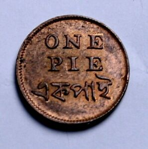 India 1831 British East India Company One Pie Uncirculated Copper  53-181